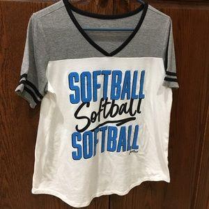 Justice ACTIVE Softball shirt. Girls 20 plus🌹